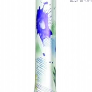 Arthritis Grip Cane - Folding, adjustable, Left Handed - Floral