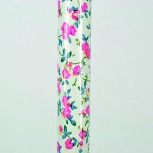 Arthritis Grip Cane - Folding, adjustable, Left Handed - Pink Flowers