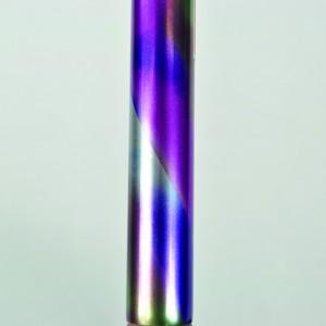 Arthritis Grip Cane - Folding, adjustable, Left Handed - Rainbow