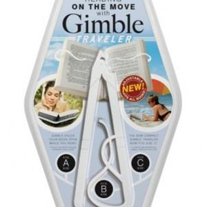 Gimble Traveller Book Holder - White